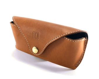7d94c9c210e9 Personalized Leather Glasses Case / For Rayban / Monogram Leather Glasses  Case / Sunglasses Cover / Eyeglasses Case