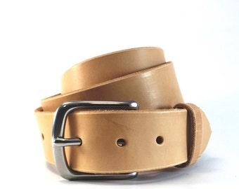Men s Belt   Vegetable Tanned Natural Belt   100 Year Belt   Full Grain  Leather Belt   1.5