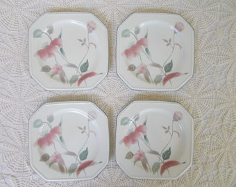 Mikasa silk flowers etsy mikasa silk flowers continental set of 4 salad plates new never used oven to dishwasher safe for microwave 1980s excellent condition mightylinksfo