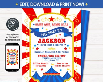 Carnival Invitations Carnival Theme Party Carnival