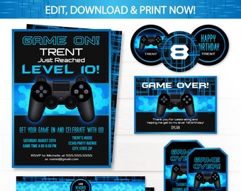 Video game birthday party invitations video game invitations video game party invitations video game invitations video game party supplies video game stopboris Choice Image