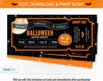 movie ticket invitations movie party invitations hollywood etsy