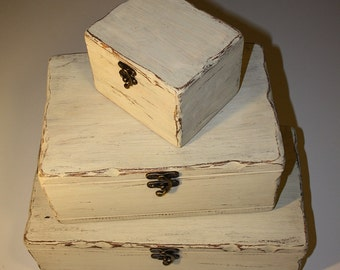 Wooden box - PALE - set of 3