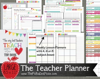 Planner For Teacher Etsy