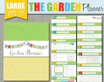 "Garden Planner {Printable} Set - Sized Large 8.5 x 11"" PDF"