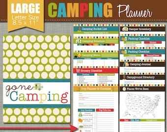 "Happy Camper Planner {Printable} Set - Sized Large 8.5 x 11"" PDF"