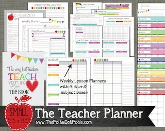 "Teacher Planner {Printable} Set - Sized Small 5.5"" x 8.5"" PDF"