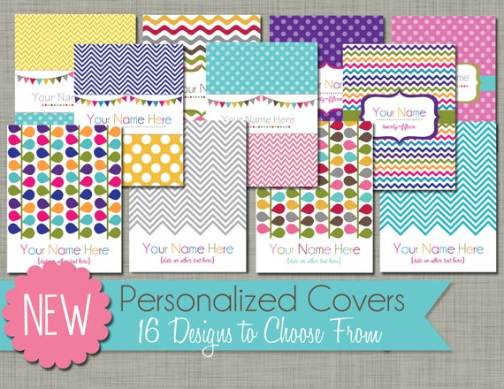 personalized planner cover page printable pdf etsy