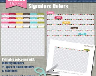 Print & Cut Dividers - Sized for our Small Planners - Signature Design - Instant Download
