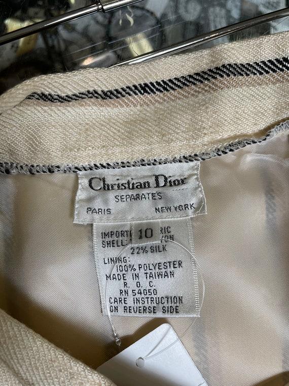 Vintage Christian Dior midi skirt 80s - image 3