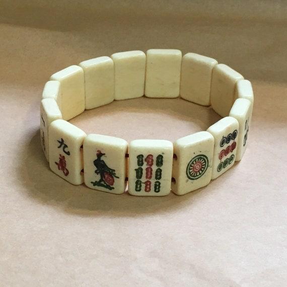 Vintage mahjong bracelet 70's