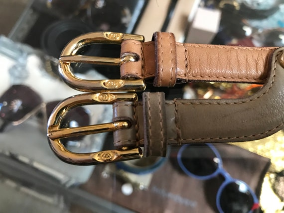 Vintage gucci belt two double buckles 70s - image 4
