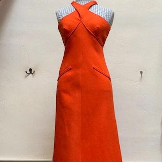 vintage courreges dress orange 70s