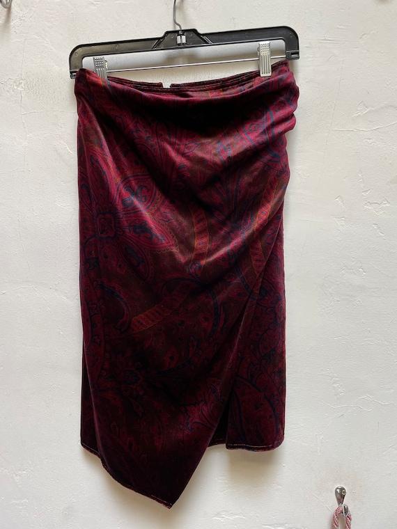 Vintage Gianni Versace velvet skirt - image 1