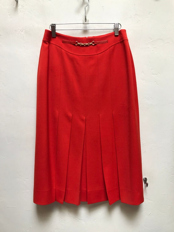 Vintage Celine orange skirt 70s retro