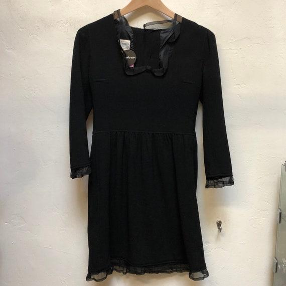 Vintage Courreges Black Dress  70s