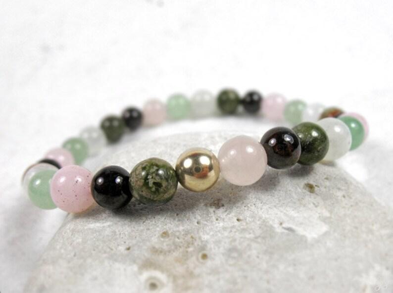 Love Bracelet Mother/'s Gift Chakra Balancing Heart Chakra Bracelet Fertility Stones Bracelet Women/'s Energy Bracelet Yoga Gift