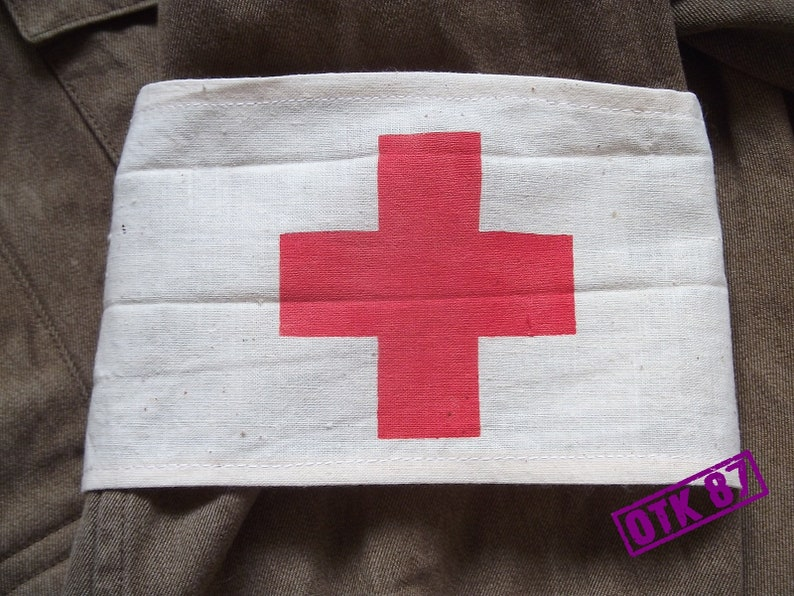 VINTAGE Original RED CROSS armband from Czech army