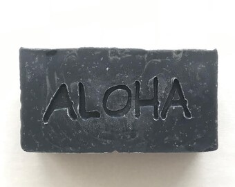 Black Charcoal Soap/Face Soap/Handmade in Maui/Hawaii Souvenir/Gifts/ For Him/Teen Soap/Vegan Soap/Stocking Stuffer/Maui Souvenir/Maui Soap