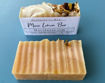 Maui Lemon Bar Soap/Lemon SOAP/LEMON Scented/Shea Butter Soap/Handmade on Maui/Vegan Soap/Fragrance Oil Soap/Palm Oil Free/