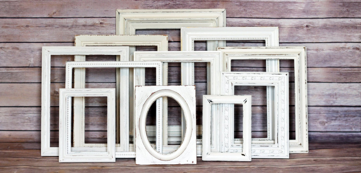 Wedding Decor, Rustic Wedding, Wedding Sign, Picture Frame Set ...