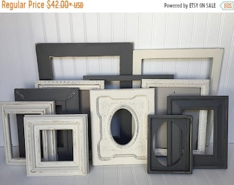 French Country Decor, Living Room Decor, Upcycled, Rustic Wedding Decor, Rustic Wedding, Picture Frame Set, Baby Boy Nursery, Office Decor