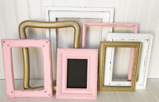 7 Picture Frames Without Glass Or Backing You Choose Sizing Etsy