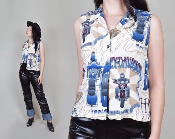 Vintage Harley Davidson Shirt | Harley Davidson Rayon Blouse