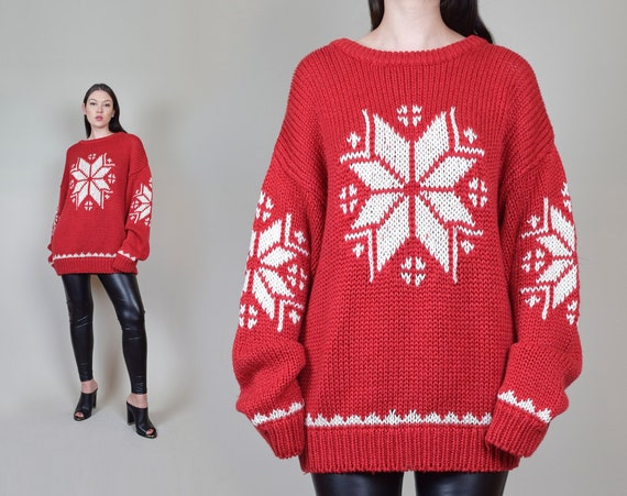 Vintage Snowflake Holiday Sweater | 90's Vintage Holiday Sweater