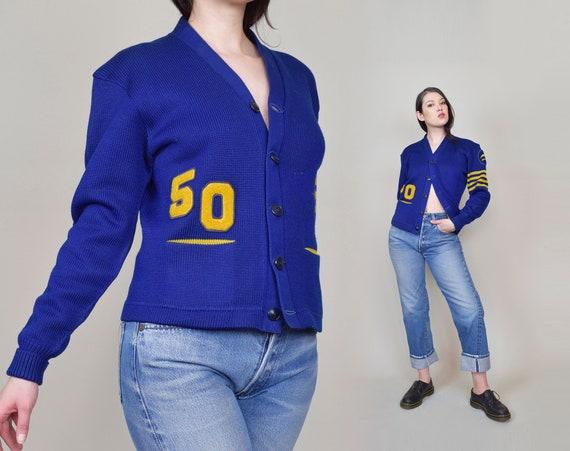 1950's Varsity Sweater   1950's Letterman Sweater