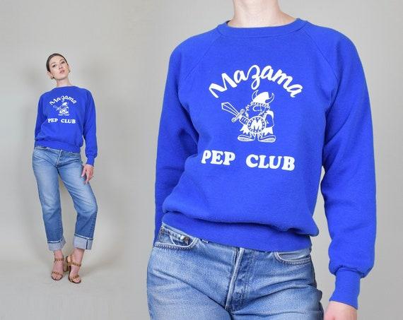 1960's Pep Club Sweatshirt   Mazama Pep Club Sweater