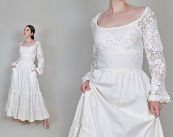 1970's Gunne Sax Wedding Dress | Vintage Gunne Sax Dress