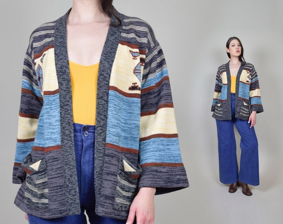1970's Space Dyed Wrap Sweater   Vintage Space Dye Sweater