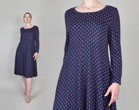 1970's Diane von Furstenberg Knit Dress | Floral Print Diane von Furstenberg Dress