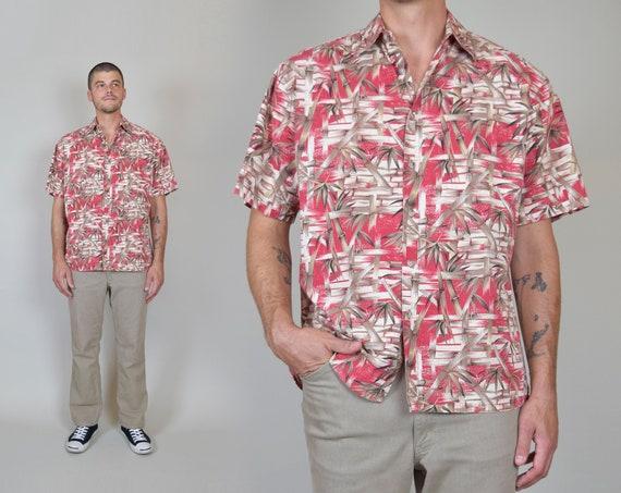 Vintage Bamboo Print Hawaiian Shirt | Printed Hawaiian Shirt
