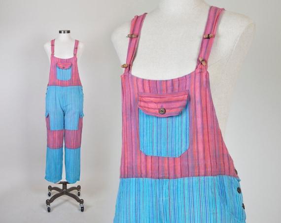 Vintage Patchwork Overalls | Indian Cotton Summer Jumpsuit | Cotton Overalls