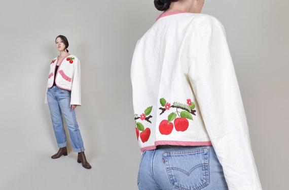 Vintage Caterpillar Coat | Quilted Crop Jacket | Cottagecore