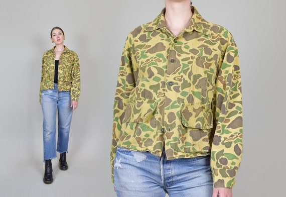 1950's Camouflage Jacket | 1950's Hunting Jacket | Vintage Duck Camo
