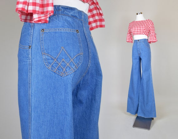 1970's Bellbottom Jeans XS | 1970s Bell Bottoms