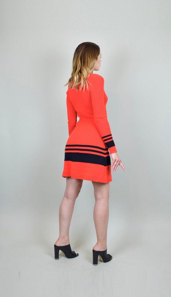 1970's Lace Up Knit Sweater Dress - image 8
