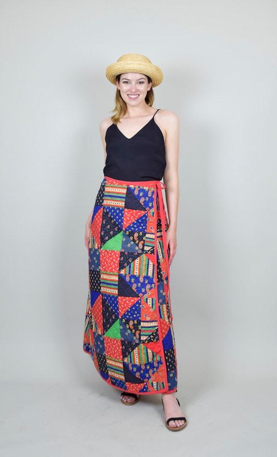 1970s Quilt Patchwork Skirt | Vintage Quilt Patch… - image 5