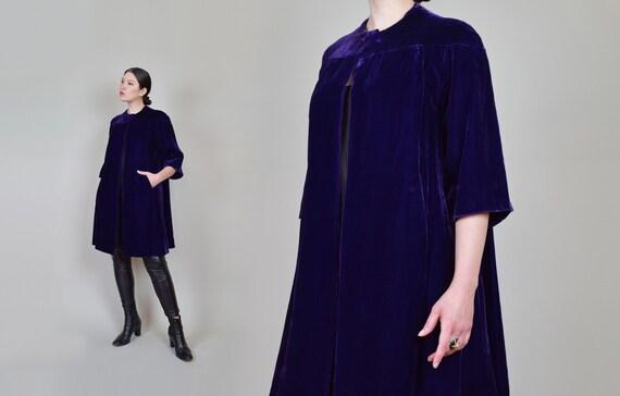 1930s Purple Velvet Coat | 1930s Silk Velvet Coat - image 5