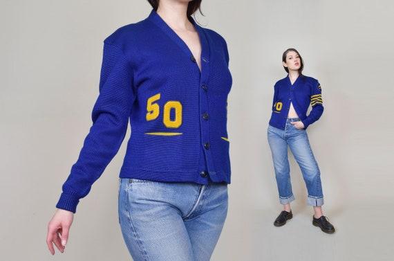 1950's Varsity Sweater | 1950's Letterman Sweater