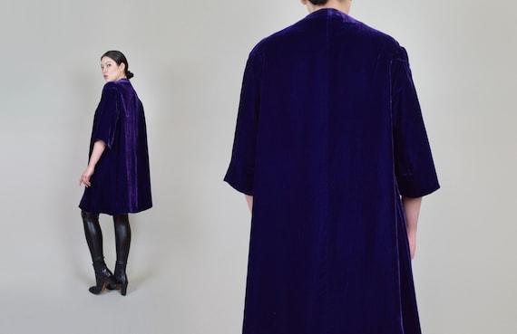 1930s Purple Velvet Coat | 1930s Silk Velvet Coat - image 9