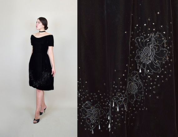 1950's Suzy Perette Dress | 1950s Velvet Holiday D