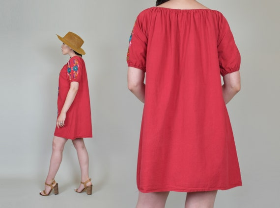 Vintage Embroidered Peasant Dress | Embroidered M… - image 9