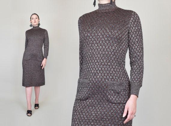 1960's Lurex Knit Sweaterdress | Kimberly Knit Dress