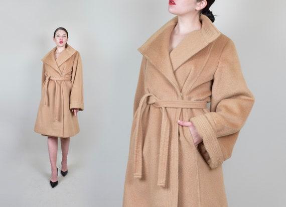1950's Camel Hair Wrap Coat | 1950s Camel Hair Coa
