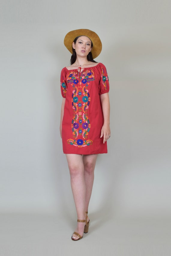 Vintage Embroidered Peasant Dress | Embroidered M… - image 4