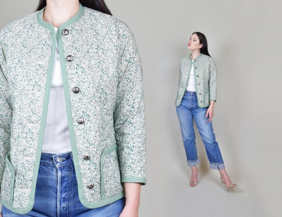 Calico Quilted Jacket | Vintage Quilt Jacket